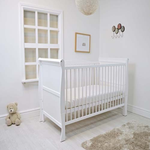 Sleigh Cot Bed (white)